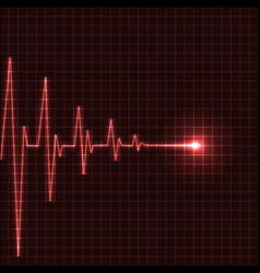 Heart beats vector