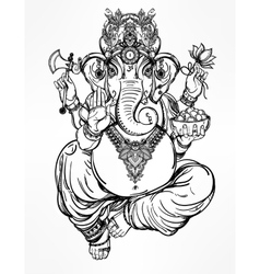 Hindu elephant head god Lord Ganesha vector image