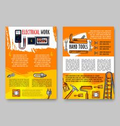 Home repair sketch handy work tools poster vector