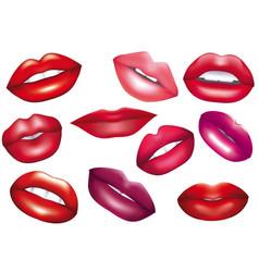 Lips set design element vector