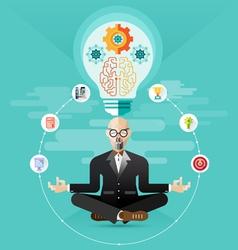 old Business meditation create idea vector image vector image