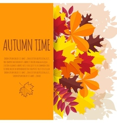 paper background with autumn foliage vector image