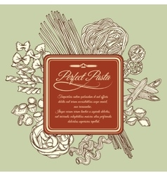 Perfect pasta label template vector image