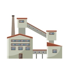 Processing plant waste icon cartoon style vector
