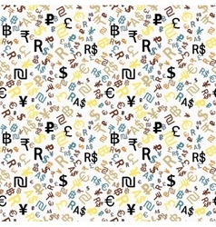 Seamless pattern major world currencies vector