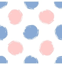 Seamless pattern polka dots in color 2016 rose vector