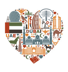 The heart is composed of the traditional symbols vector