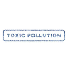 Toxic pollution textile stamp vector