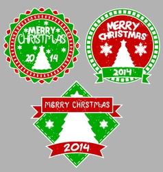 tree xmas badges vector image