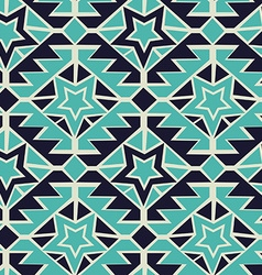 Tribal turquoise and navy geometric tribal vector