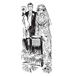 Wedding vintage vector