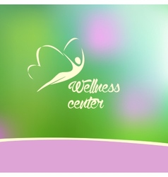 wellness center logo vector image