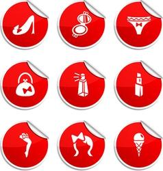 Women stickers vector
