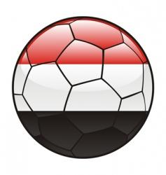 yemen flag on soccer ball vector image vector image