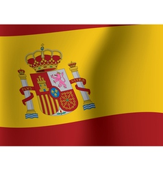 Waved flag of spain vector