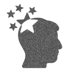 Stars hit head grainy texture icon vector