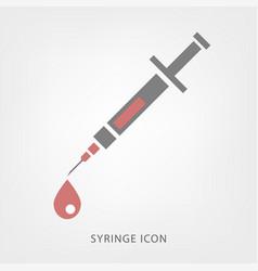 Syringe icon image vector