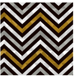 Seamless gold zig zag pattern vector