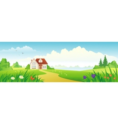 Summer house banner vector