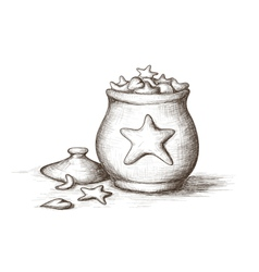 Hand drawn of Holiday treat jars with vector image