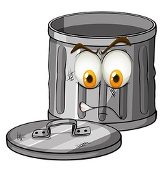 Trash can with emotion vector