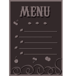 Menu in chocolate tones vector