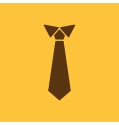 The tie icon Necktie and neckcloth symbol Flat vector image