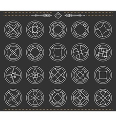 Set of geometric hipster shapes 73sblack vector