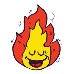 Happy freehand drawn cartoon fire vector