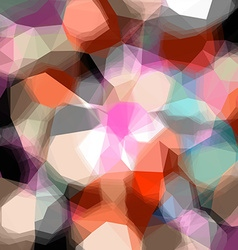 Abstract triangular color background vector