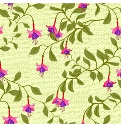 Vintage wallpaper seamless pattern with fuschia vector