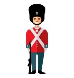 British guardsman Flat style colorful vector image