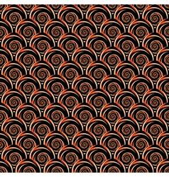 Design seamless decorative spiral pattern vector