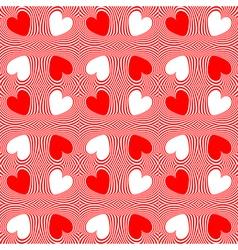 Design seamless twirl stripy heart pattern vector