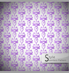 Eyes violet vintage seamless pattern vector