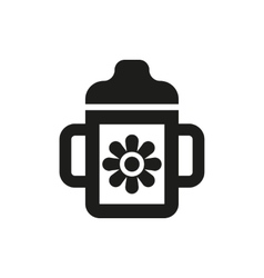 Feeding cup icon design baby bottle symbol web vector