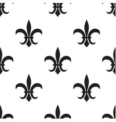 fleur de lis black pattern on white vector image vector image