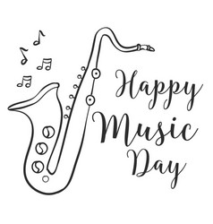 Happy music day celebration collection vector