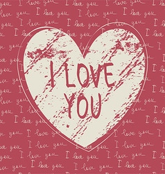 i love you hand draw card vector image