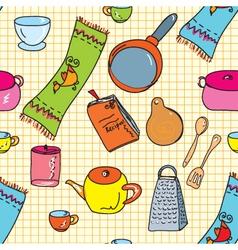 kitchen wallpaper vector image