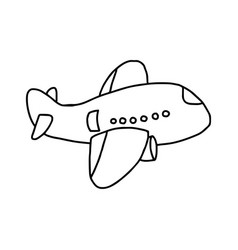 plane icon - sketch hand drawn vector image vector image