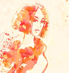 portrait of beautiful women vector image vector image