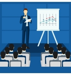 Public People Speaking From Podium Poster vector image vector image