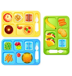 School lunches vector image vector image