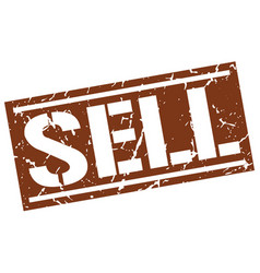 Sell square grunge stamp vector