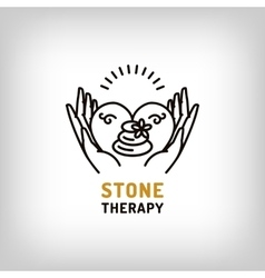 Stone therapy beauty spa relax icon vector