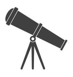 Telescope silhouette vector