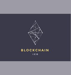 Template logo for blockchain technology vector