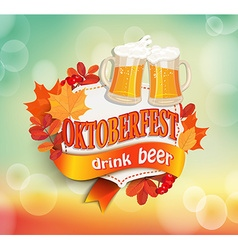 Vintage frame for octoberfest vector