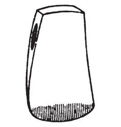 Wedge axe vintage vector
